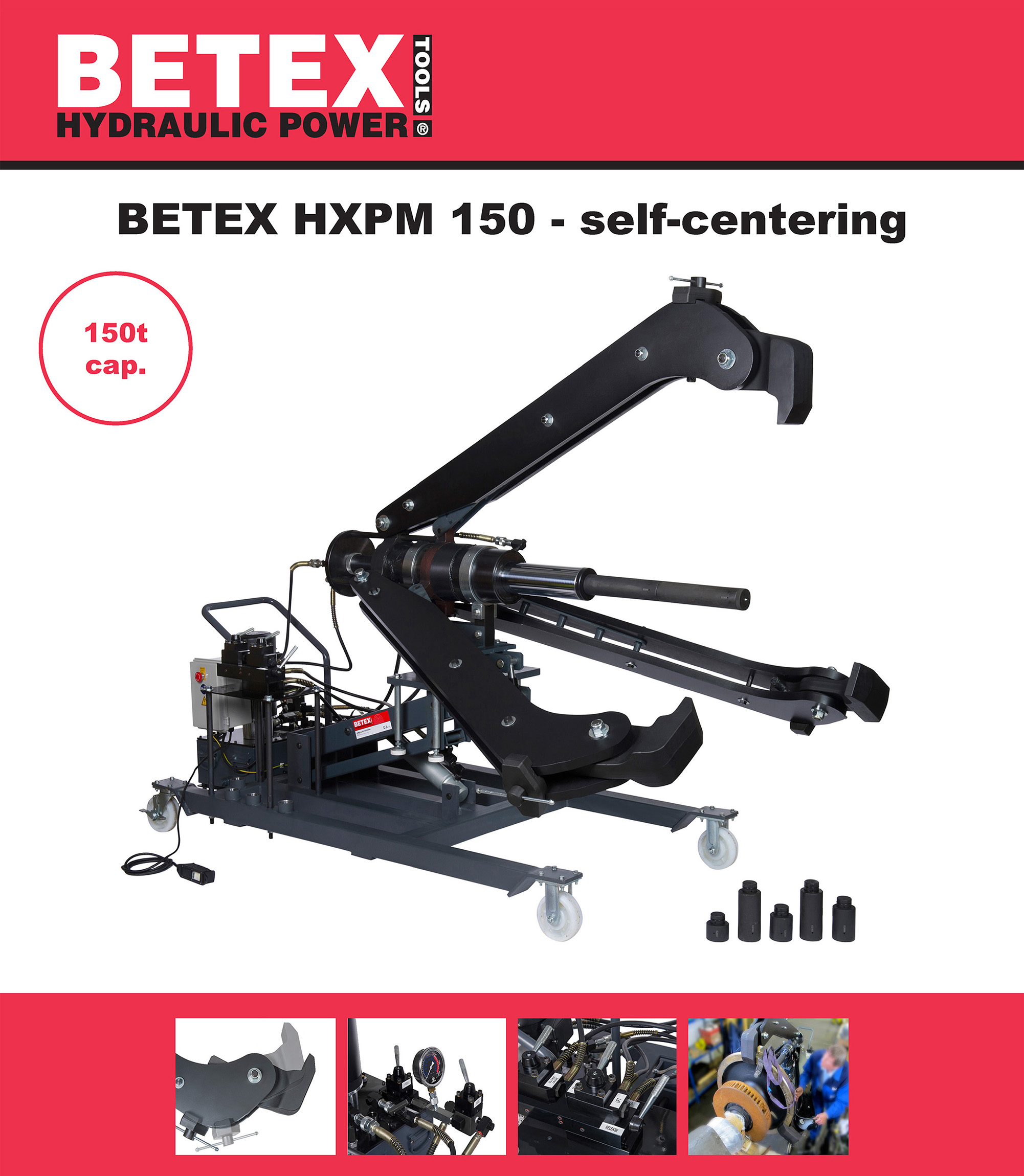 Poster BETEX HXPM 150 hydraulic puller