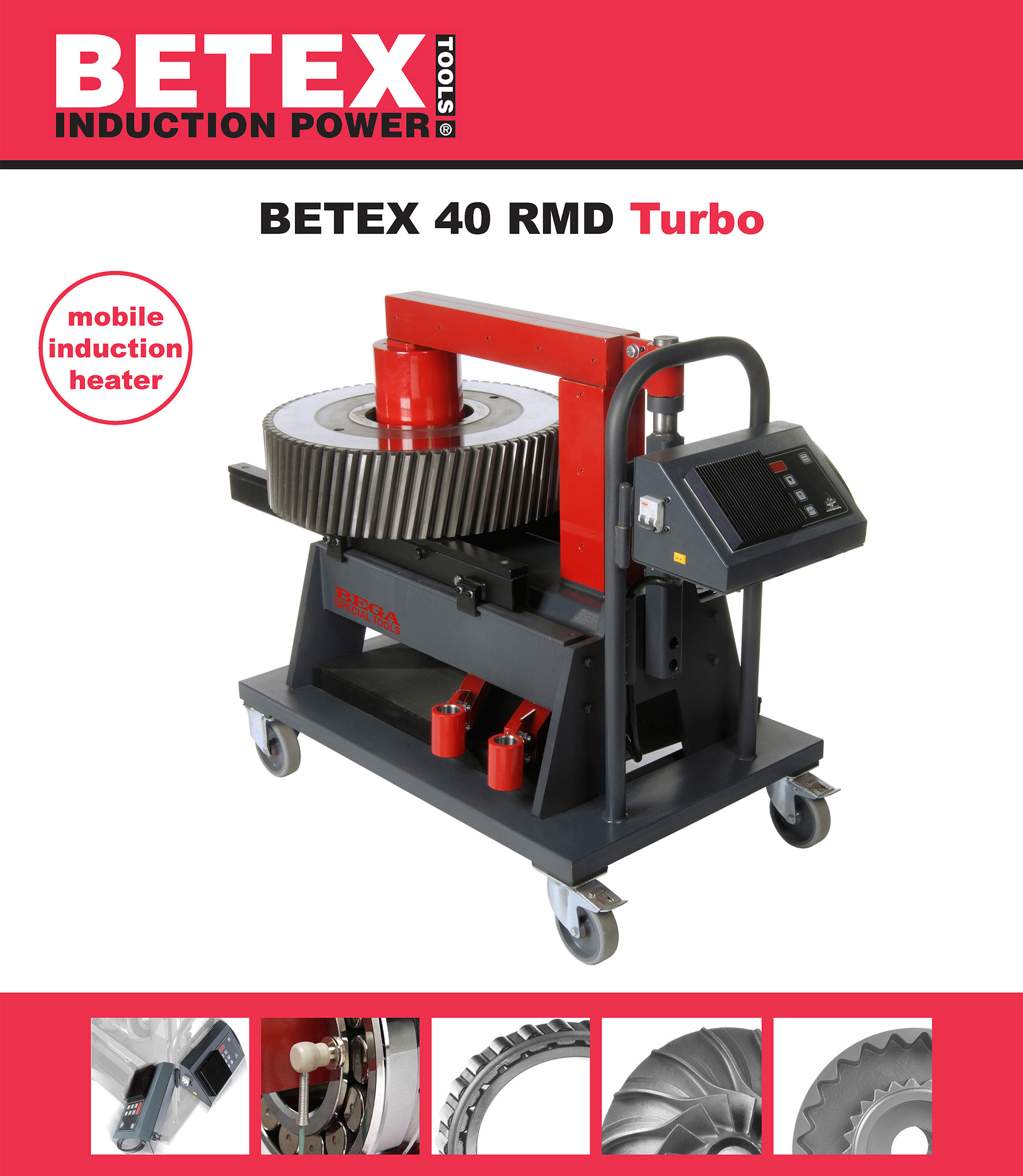 BETEX 40 RMD TURBO induction heater - Bega Special Tools