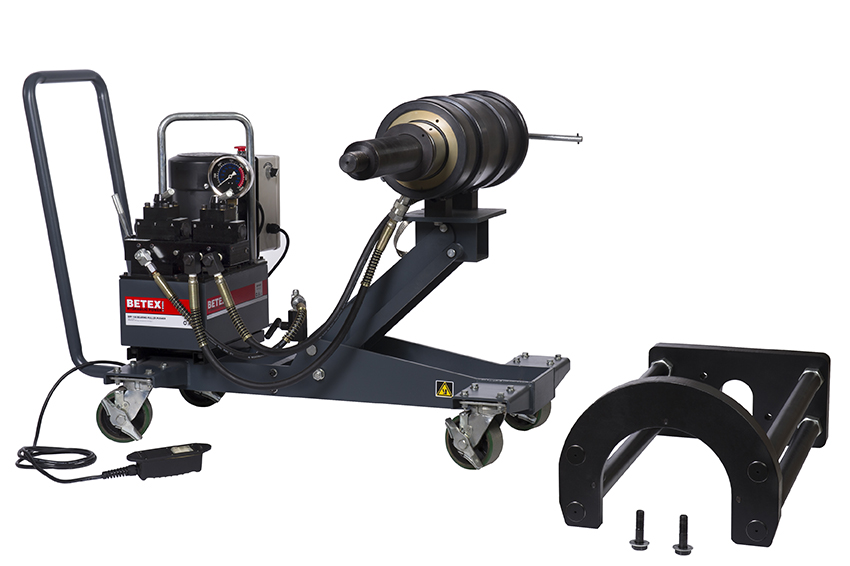 Mobile Hydraulic Puller : Bearing puller pusher betex bpps tons with solenoid