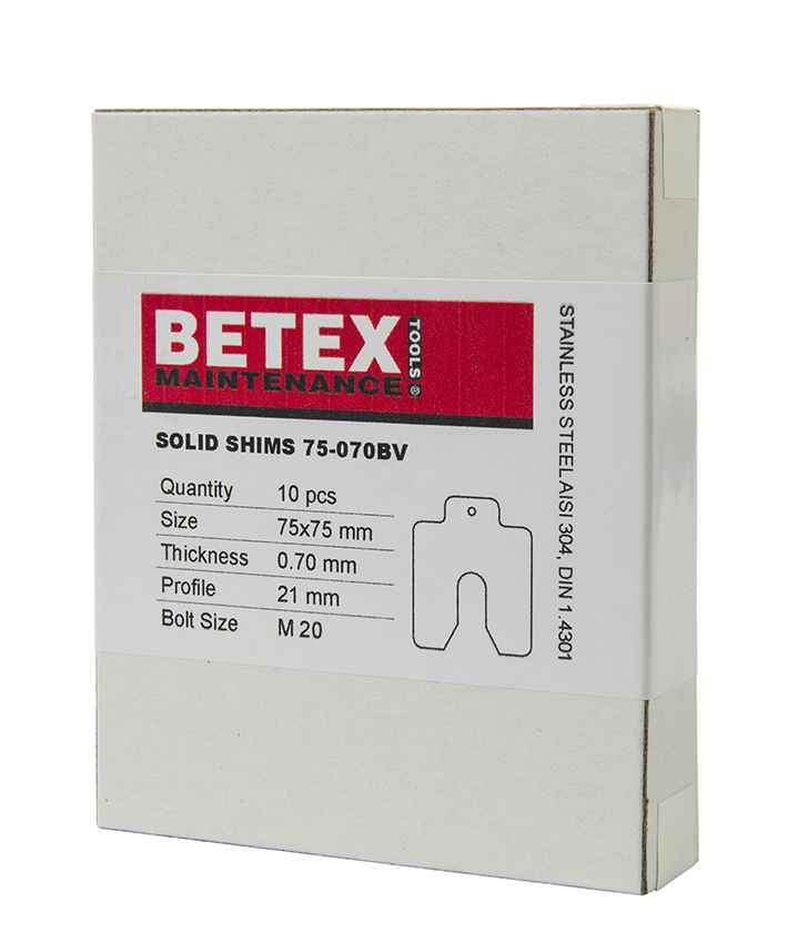 Betex Shims - Vulplaten - Bega Special Tools
