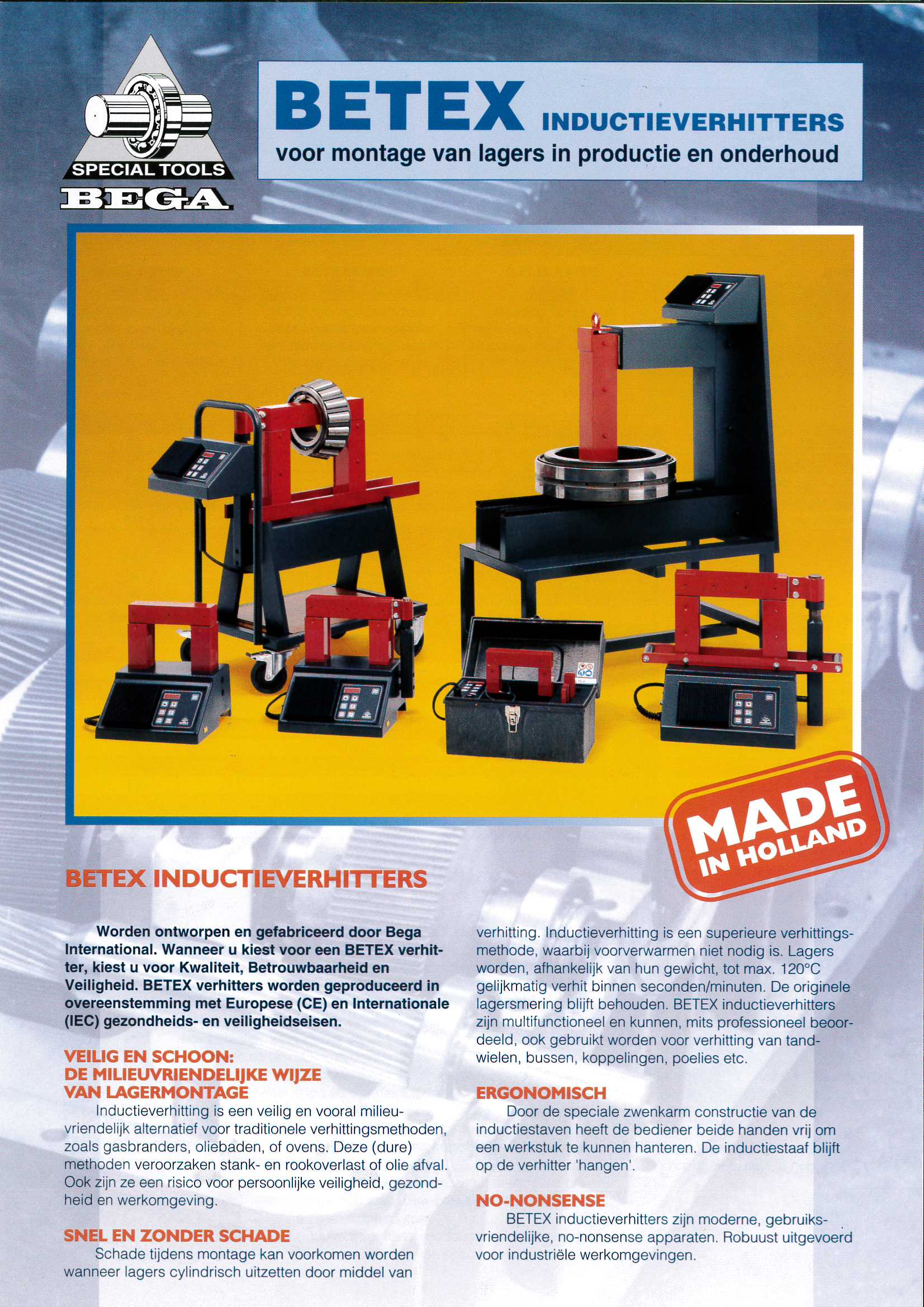 Folder Betex inductieverhitters 2000 Bega Special Tools