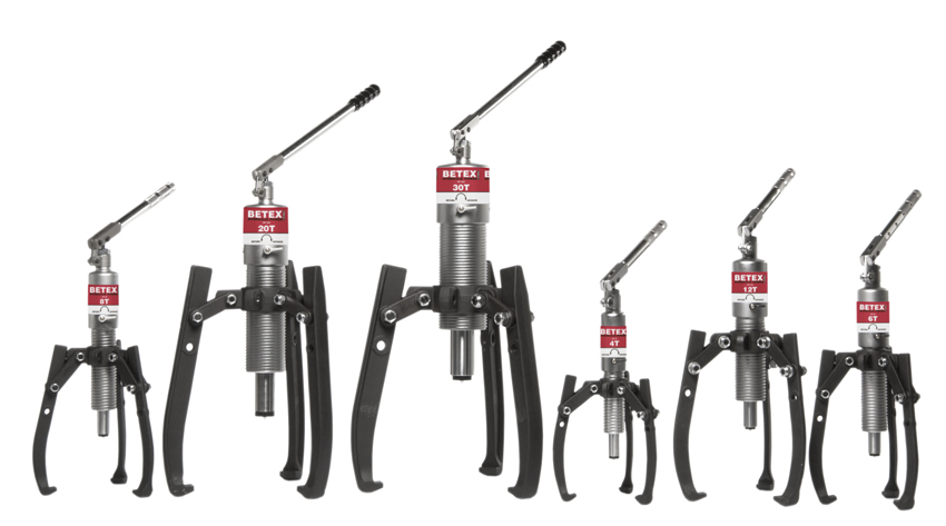 Betex HP serie - hydraulic pullers - Bega Special Tools - BETEX hydraulic bearing pullers - Bega Special Tools