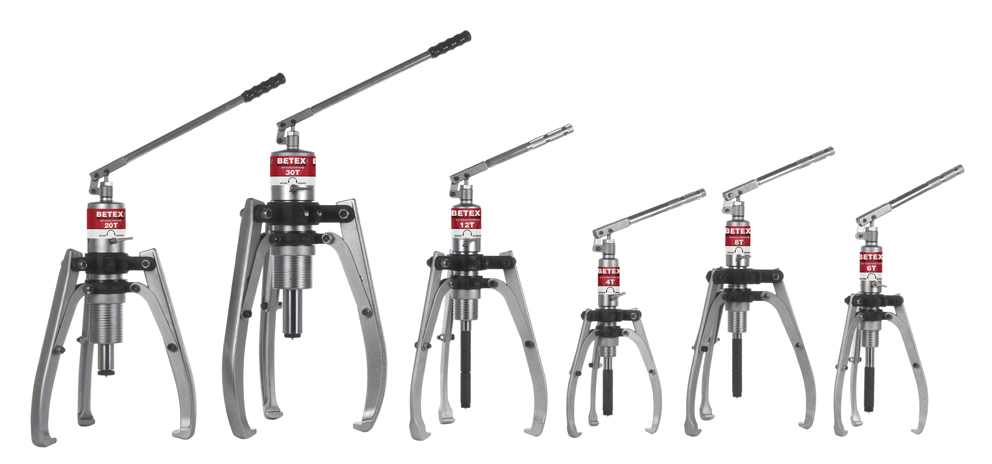 Betex HSP serie - hydraulic self-centering pullers - Bega Special Tools - BETEX hydraulic bearing pullers - Bega Special Tools