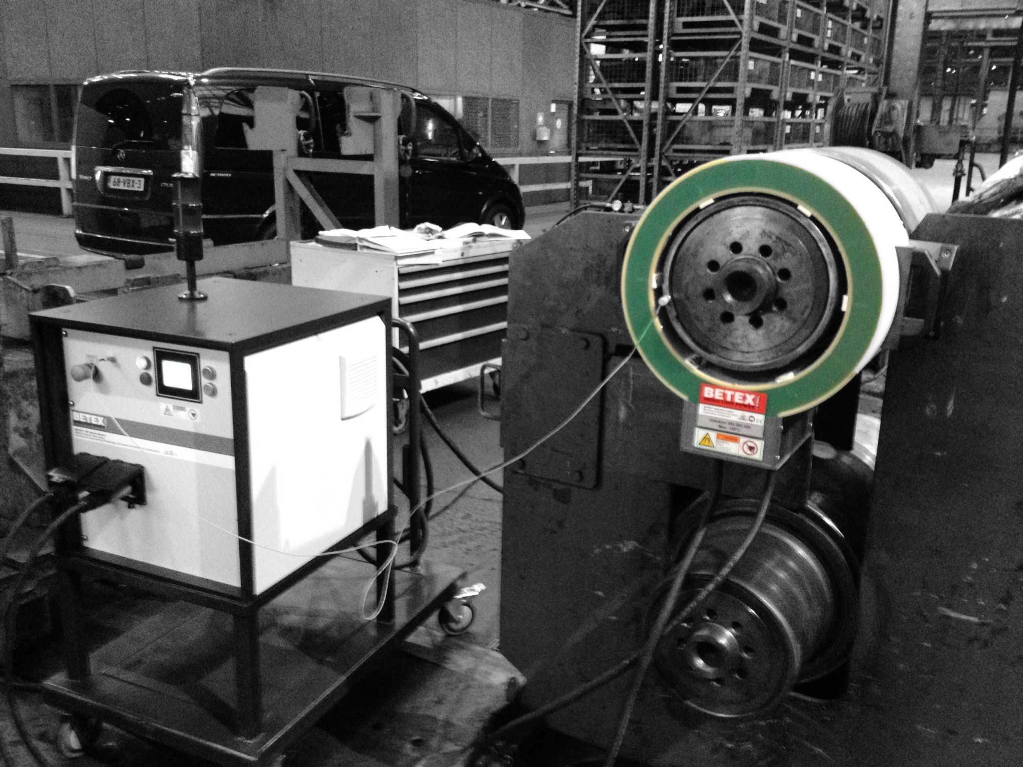 Betex MF Quick-Heater in staal fabriek - Bega Special Tools