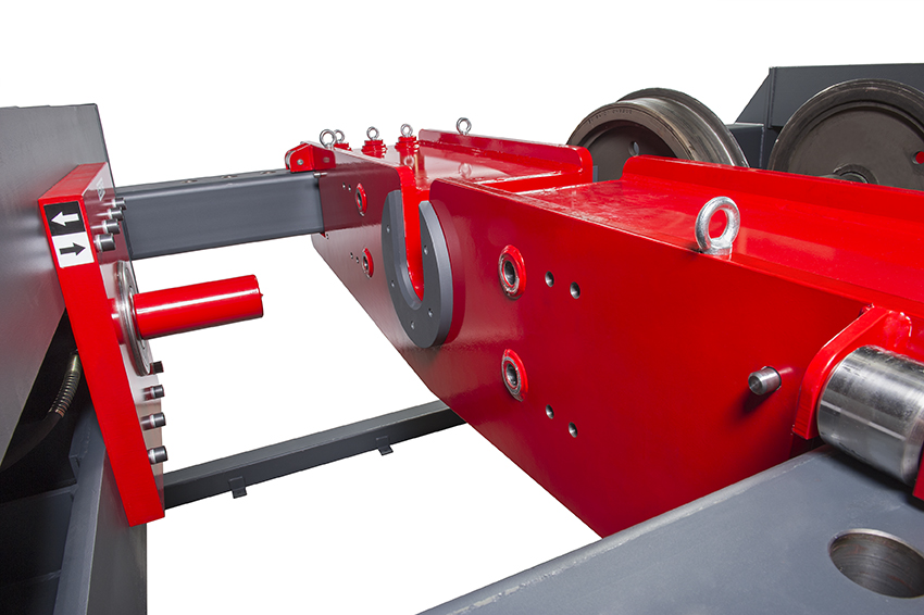 Betex HWS - to customer specification - wheel set press - mounting dismounting wheel sets - Bega Special Tools